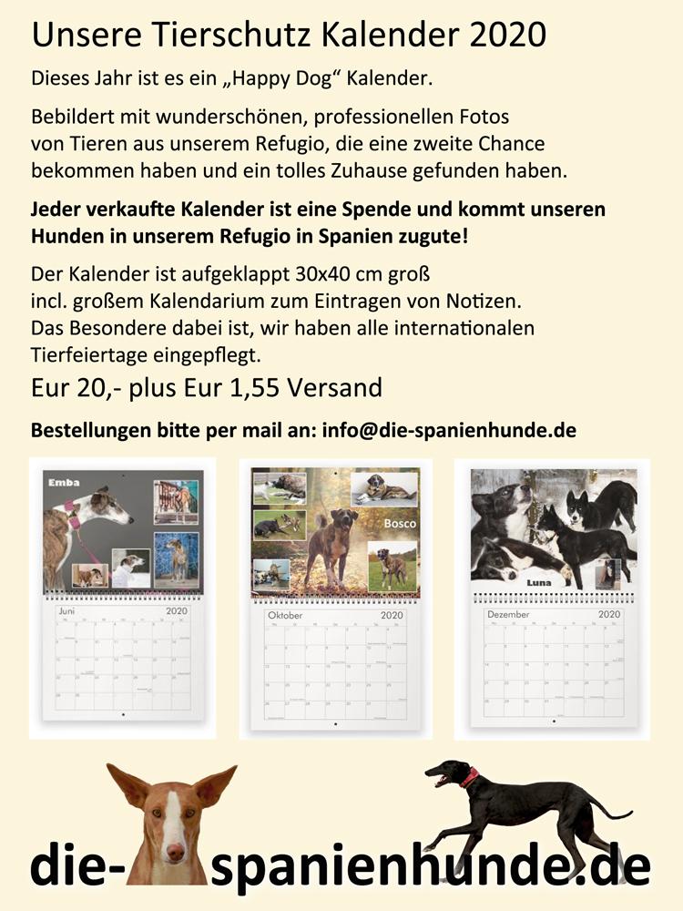 Tierschutzkalender 2020